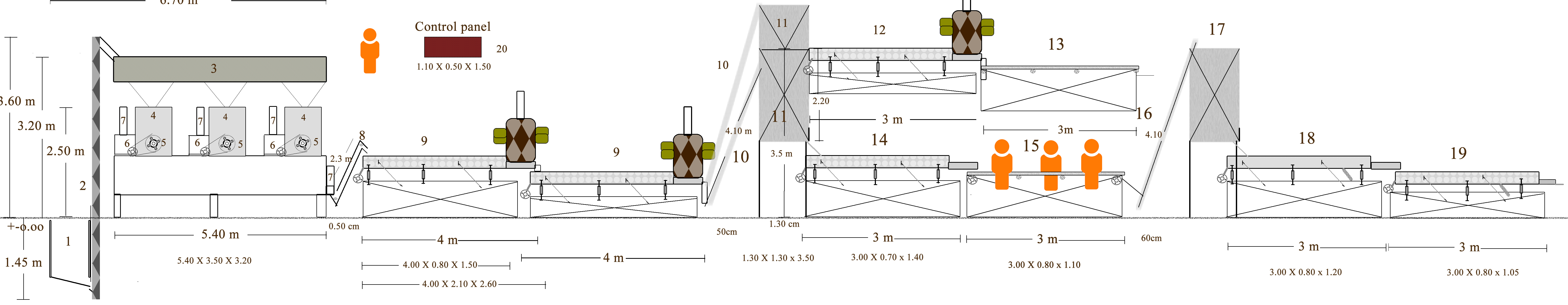 air aspirations, size separators, silos, picking/sorting tables, sizers  e t c the shelling lines can be merged with an almond sizing line